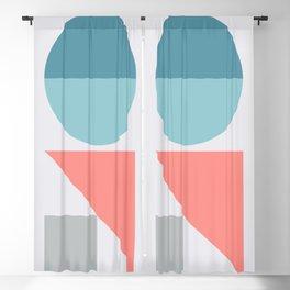 Geometric Form No.3 Blackout Curtain