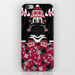 Bobble Hat Zebra iPhone Skin