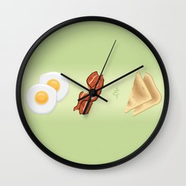 Family Breakfast Song Wall Clock