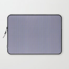 USA Flag Blue and White Gingham Checked Laptop Sleeve
