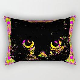 Purple Streak Quad Cat Rectangular Pillow