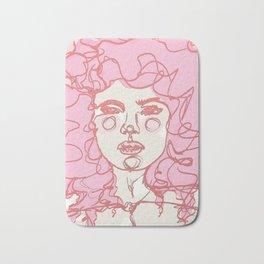 Pinky Pink Curls Bath Mat