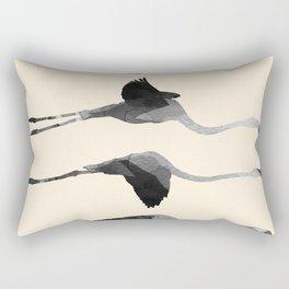Flaying Gray Flamingos Rectangular Pillow