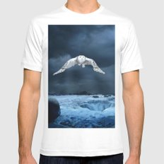 Stronger than the storm White Mens Fitted Tee MEDIUM