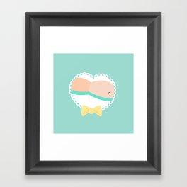 Heart Booty Framed Art Print