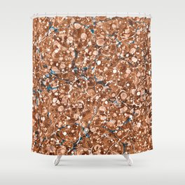 Vintage Marbled Texture - Organic Overdose Shower Curtain