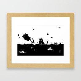 Coffee Cats Framed Art Print