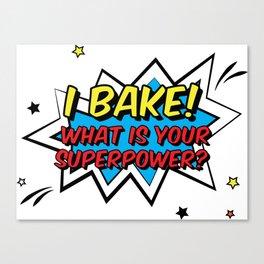 Happy Superhero Baker Canvas Print