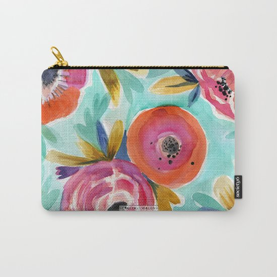 Rain Flower Carry-All Pouch