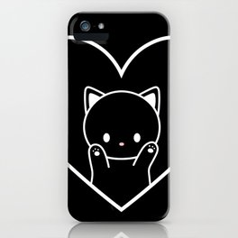 Cat in Heart iPhone Case
