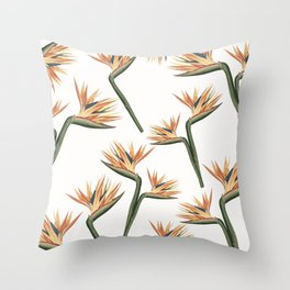 Birds of Paradise Flowers 2 Throw Pillow