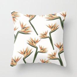 Birds of Paradise Flowers 2 Throw Pillow