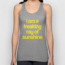 i am a freaking ray of sunshine (Sparkle Pattern) Unisex Tank Top