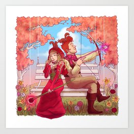 Witch and Wizard of Valentines Art Print