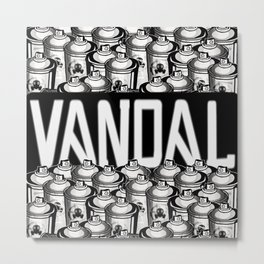 VANDAL and SPRAY CANS Metal Print