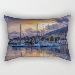 Sunset Boats Rectangular Pillow