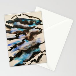 Et par-delà, les nuages Stationery Cards