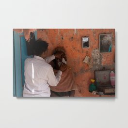 Cut throat, Mumbai, India Metal Print