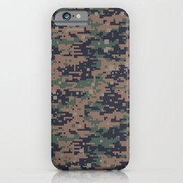 Marines Digital Camo Digicam Camouflage Military Uniform Pattern iPhone Case