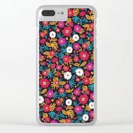 Flower pattern by Veronique de Jong Clear iPhone Case