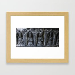 Travel to Ireland: A Monk's Tomb Framed Art Print