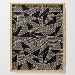 Geometric Abstract Origami Inspired Pattern Serving Tray