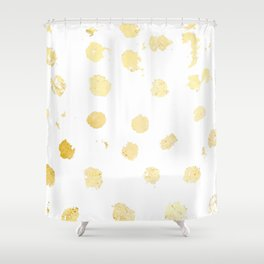 Foil Spots Shower Curtain
