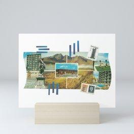 Mountain and Beach Collage Mini Art Print