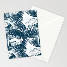 Blue Palm Leaves Stationery Cards