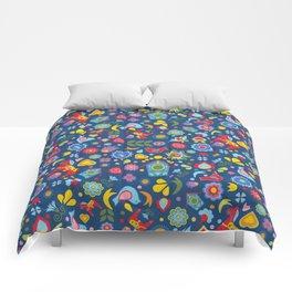Swedish Folk Art Garden Comforters