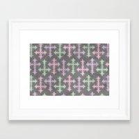 pastel goth Framed Art Prints featuring Pastel Goth | Grunge Grey by Glitterati Grunge