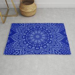 Blue Boho Mandala Rug