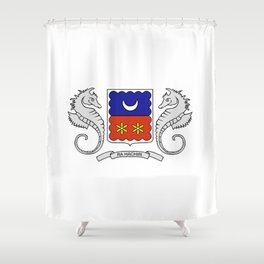 Flag of mayotte Shower Curtain