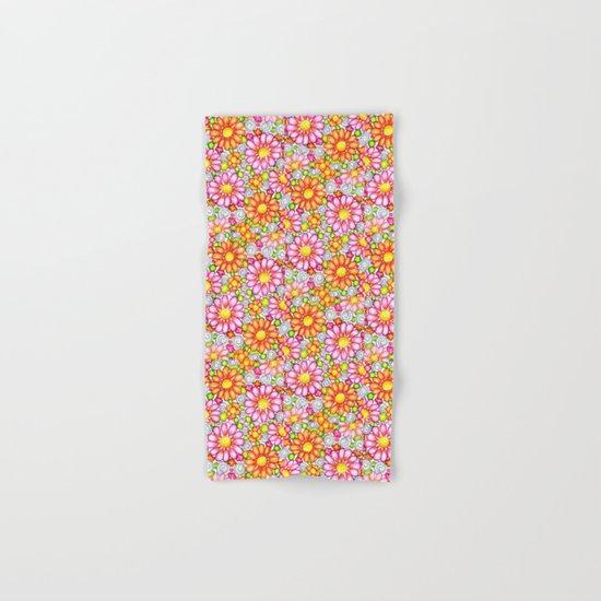 Summer Daisies Tiled Pattern Hand & Bath Towel