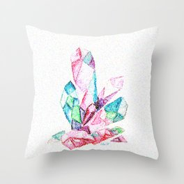 Crystals Throw Pillow