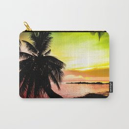 Tropical colorful sunset Carry-All Pouch