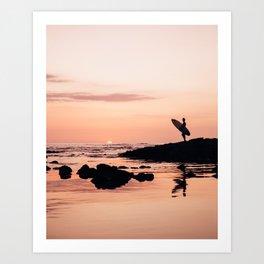 7f7223da701bc2 Sunset Surf Reflection Art Print