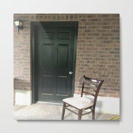 The dark door Metal Print