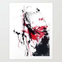 a red moment - response 2nd Art Print