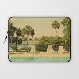 Lolita's Poolside Vacation - Beach Art Laptop Sleeve