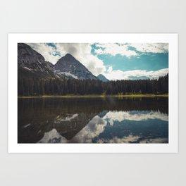 Reflection at Igelsee Art Print