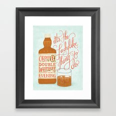 Some Good Advice Framed Art Print