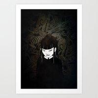 iron maiden Art Prints featuring Maiden by Highscore Kid