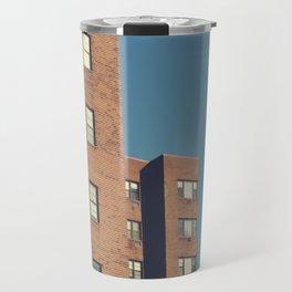 mid century building Travel Mug