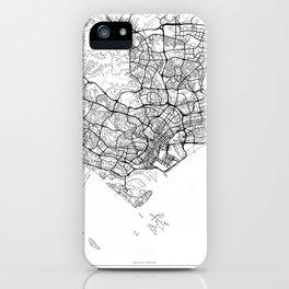 Singapore Map White iPhone Case
