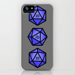 Blue d20 iPhone Case