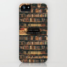 Leaders are readers iPhone Case