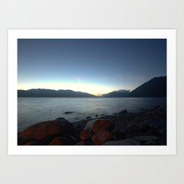 Lakes of BC by Night Art Print