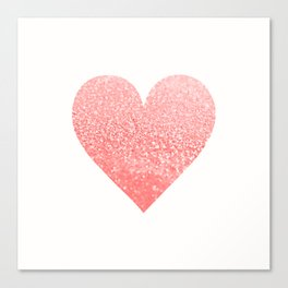 CORAL HEART Canvas Print