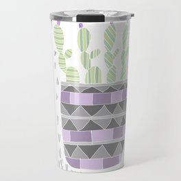 Potted Patterned Cacti Travel Mug